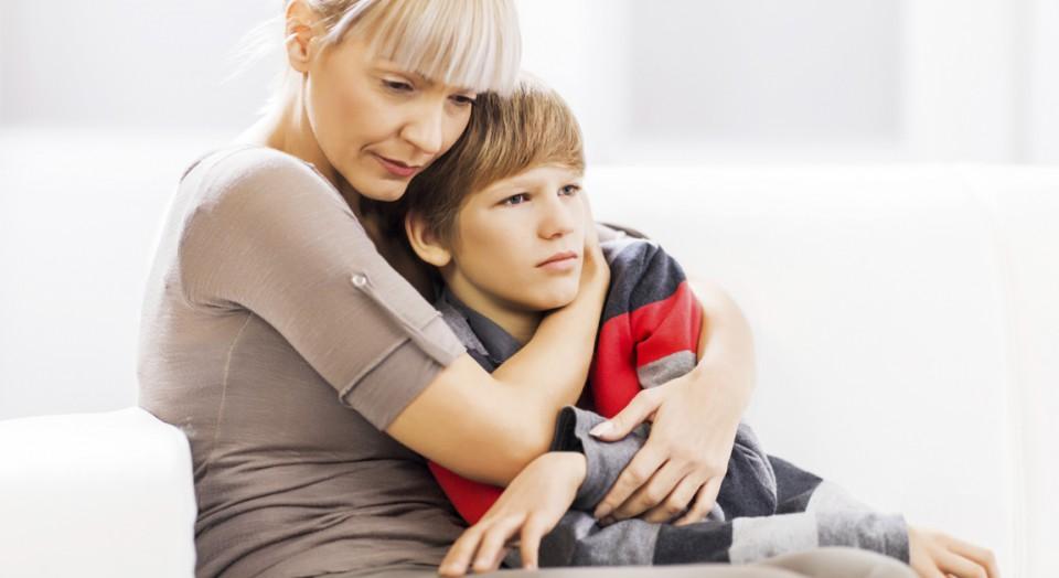 Mor med gutt